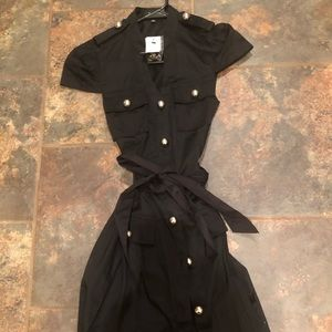 Express black military shirt dress sz 2 New